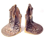 Gorgeous Art Nouveau Cast Iron Book Ends