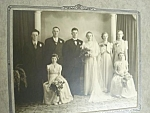 1930's Large Photo Wedding Party