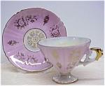 Gorgeous Pedestal Cup & Saucer Lusterware