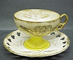 Gold Giltrainbow Lusterchina Cup & Saucer
