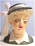 Glamorous 1950's Napco Head Vaseheadvase