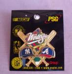 1999 World Series Baseball Pin New York Atlanta