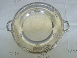Antique Silver Plated Serving Platter