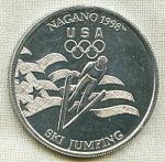 Nagano 1998 Olympic Ski Jumping Token Medal