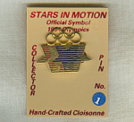 Stars In Motion 1984 Los Angeles Olympics Pin