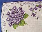 1950's Gorgeous Printed Hankie - Violets