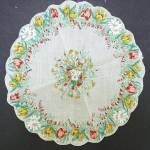 Charming Vintage Round Floral Hankie