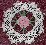 Vintage Hand Crocheted Doilie Doily.