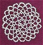 Lovely Round Tatted Doily - Tatting