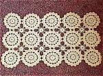 Vintage Hand Crocheted Doily Doilie.