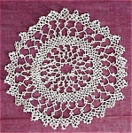 Very Fine Round Tatted Lace Doily - Tatting