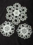Tatted Lace Doilies Set Of 3