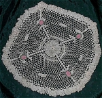 Large Vintage Hand Crocheted Doilie Doily