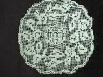 Lovely Victorian Filet Lace Doily
