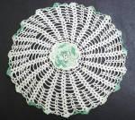 Vintage Lace Doily - Figural Rose