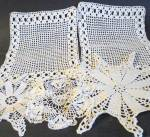 Lot Of 3 Lace Doilies & 2 Lace Placemats
