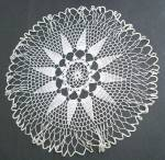 Large Snow White Hand Crochet Lace Doily