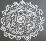 Large Hand Crochet Lace Doily