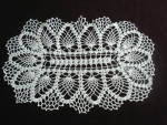 Vintage Tray Doily , Pineapple Lace Pattern