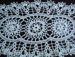 Oval Tray Doily Fine Lace