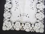 Antique Tray Cloth Cutwork Embroidery Lace