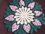 Large Lace Doily Purple Grape Clusters