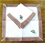 Rustic Serviettes Pr. Emroidery Roosters