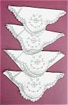 Embroidery & Eyelet Linen Napkins Serviettes