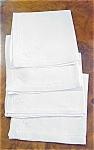 4 Vintage Mono Napkins Serviettes #1