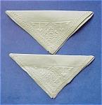 Pretty Vintage Embroidered Pair Of Serviettes