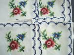 Vintage Embroidered Napkins Set Of Four