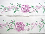 Pretty Pair - Vintage Pillow Cases - Roses