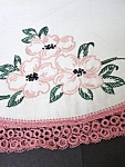 Pillow Case-floral Embroidery - Tatted Lace