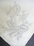 Hankie-exquisite Embroidery Monogram B
