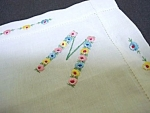 Hankie - Hand Embroidery - Floral Initial