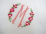 White Hankie - Embroidery - Monogram M