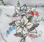 Hand Embroidery Floral Runner