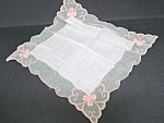 Soft Pink French Net Lace Wedding Hankie