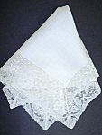 Lovely Ladies Wedding Hankie - Wide Lace
