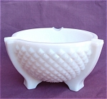 L.e. Smith Milk Glass Large English Hobnail Ashtray