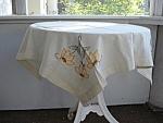 Pretty Tea Tablecloth - Hand Embroidery
