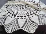 Antique Round Tablecloth Hand Made Lace