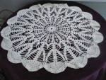 Round Lace Table Topper