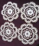 Antique Bobbin Lace Place Mats Set Of 4