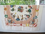 Vintage Printed Large Tablecloth Ethnic