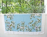 Vntg.printed Large Tablecloth White Roses