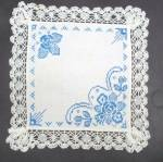 Blue Embroidery Centerpiece Lace