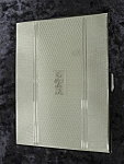 English - Chrome Cigarette Case - Deco Style
