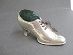 Lovely Victorian Pin Cushion - Silver Shoe