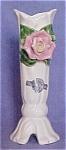 Frazier Capodimonte-like Rose Bud Vase W/ Lbl